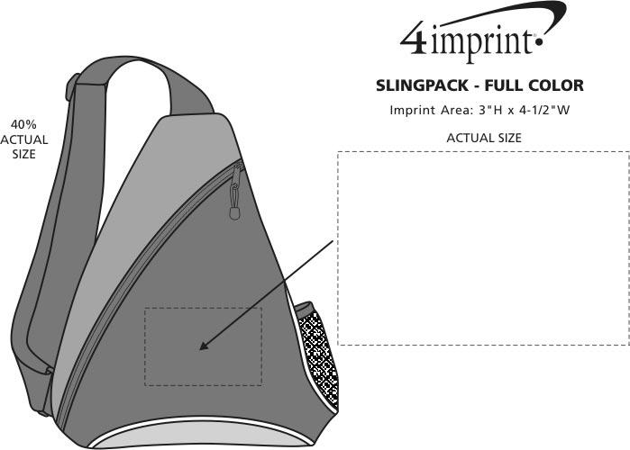 Imprint Area of Slingpack - Full Color