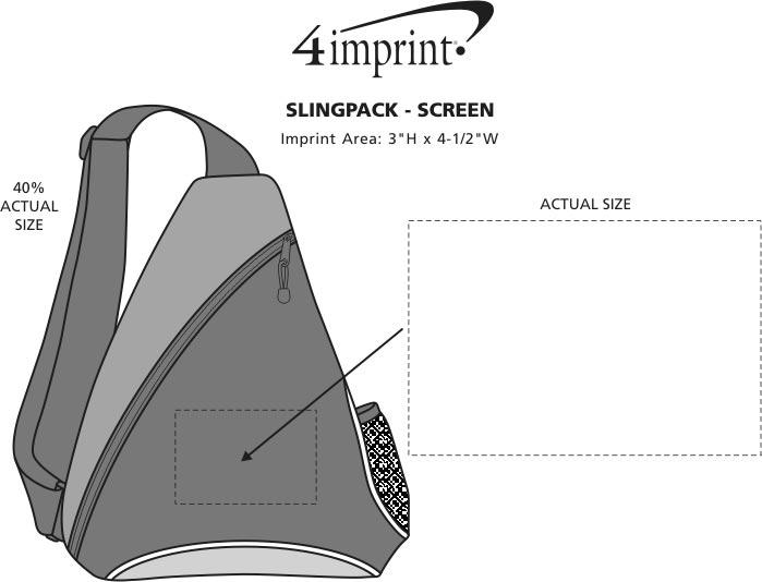 Imprint Area of Slingpack - Screen
