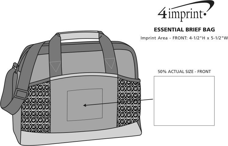 Imprint Area of Essential Brief Bag - Screen