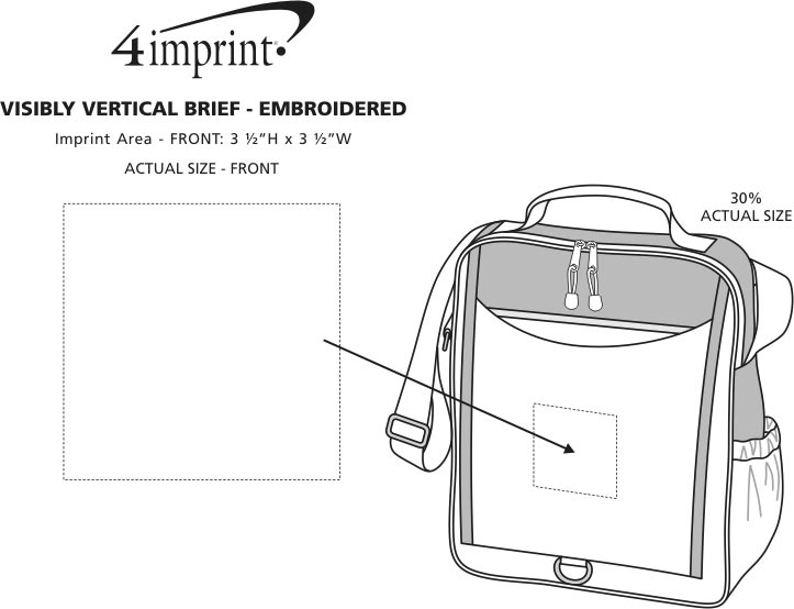 Imprint Area of Visibly Vertical Brief - Embroidered