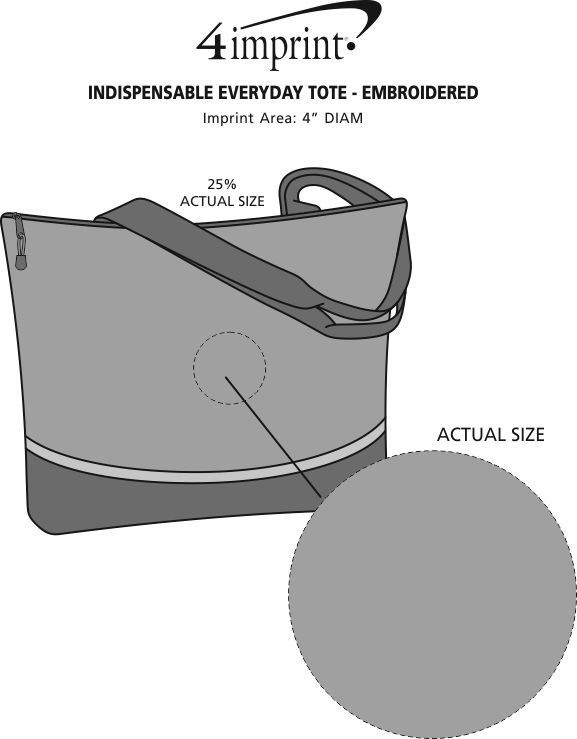 Imprint Area of Indispensable Everyday Tote - Embroidered
