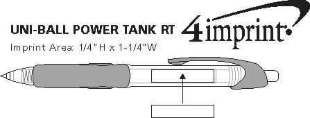 Imprint Area of uni-ball Power Tank RT Pen