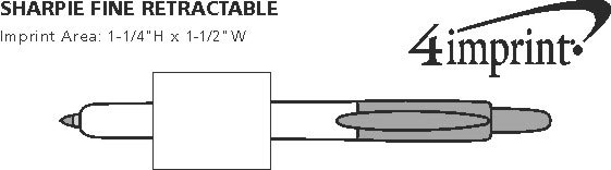 Imprint Area of Sharpie Retractable Fine Point Marker