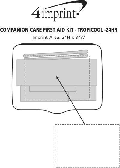 Imprint Area of Companion Care First Aid Kit - Translucent - 24 hr