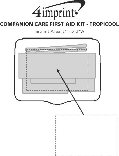Imprint Area of Companion Care First Aid Kit - Translucent