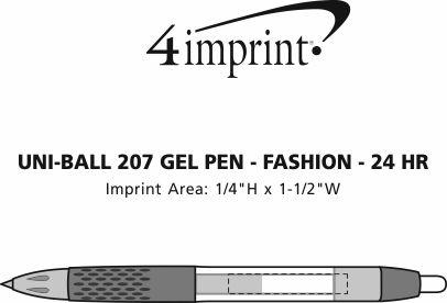 Imprint Area of uni-ball 207 Gel Pen - Fashion - 24 hr