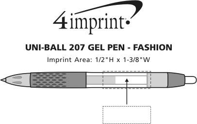 Imprint Area of uni-ball 207 Gel Pen - Fashion