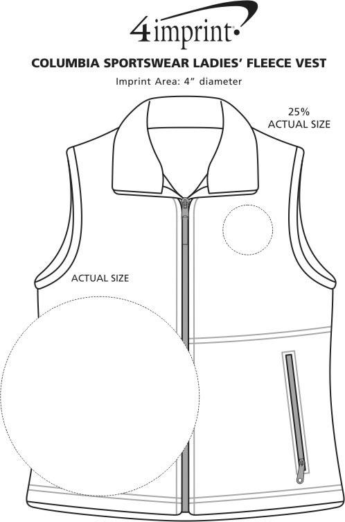 Imprint Area of Columbia Sportswear Fleece Vest - Ladies'