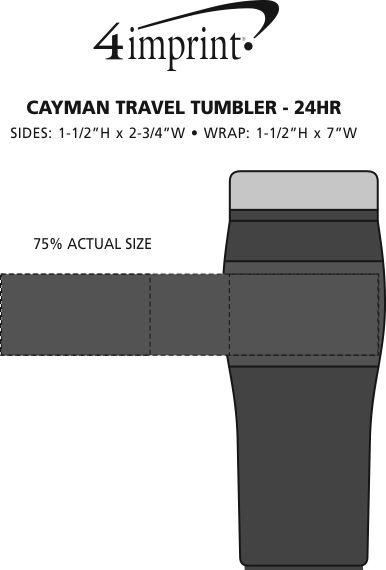 Imprint Area of Logoed Cayman Travel Mug - 16 oz. - 24 hr