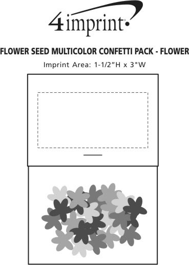 Imprint Area of Flower Seed Multicolor Confetti Pack - Flower