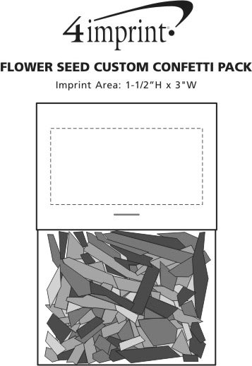 Imprint Area of Flower Seed Confetti Pack