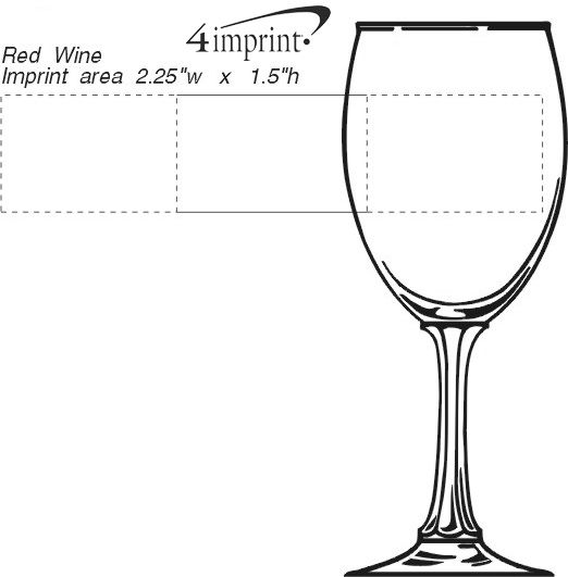 Imprint Area of Wine Goblet - 10 oz.