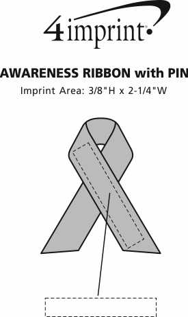 Imprint Area of Awareness Ribbon with Pin