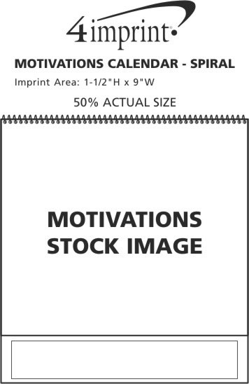 Imprint Area of Motivations Calendar - Spiral