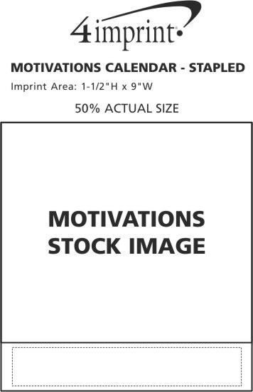 Imprint Area of Motivations Calendar - Stapled