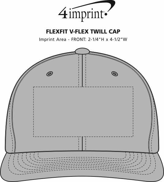 Imprint Area of Flexfit V-Flex Twill Cap