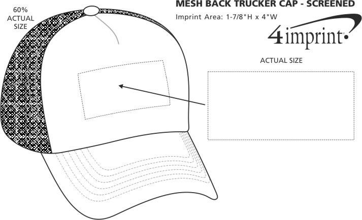 Imprint Area of Mesh Back Trucker Cap - Screen