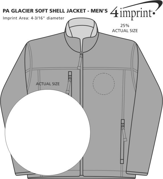 Imprint Area of Thermal Stretch Soft Shell Jacket - Men's