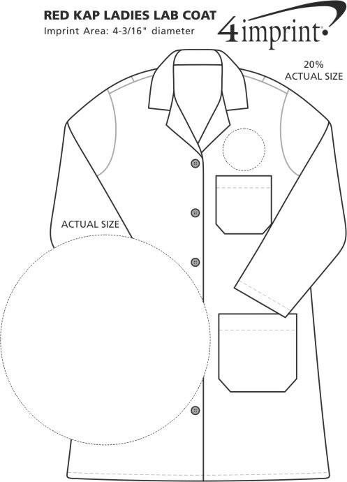 Imprint Area of Red Kap Lab Coat - Ladies'