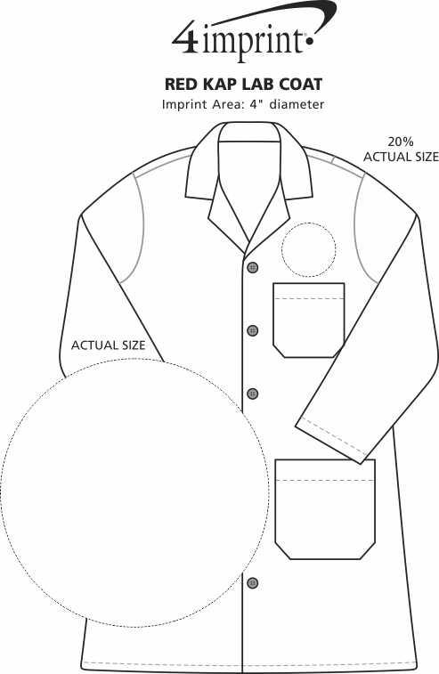 Imprint Area of Red Kap Lab Coat