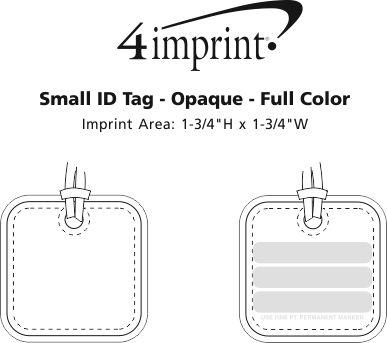 Imprint Area of Small ID Tag - Opaque - Full Color
