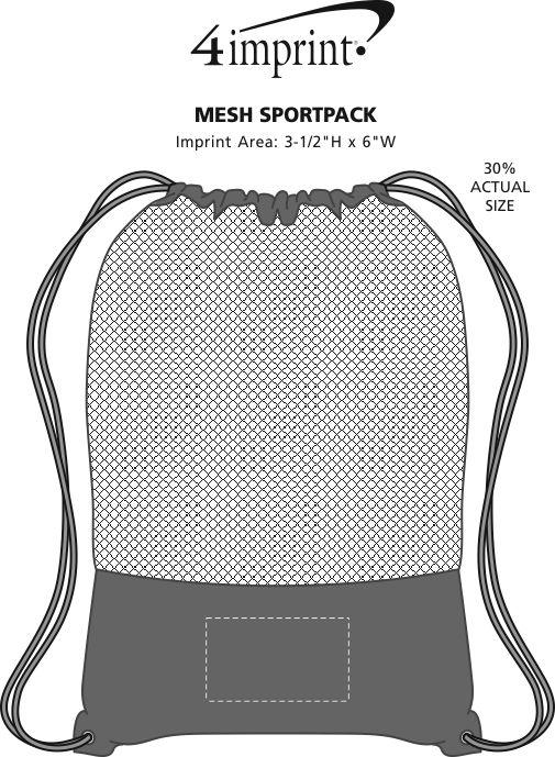 Imprint Area of Mesh Sportpack