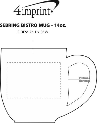 Imprint Area of Sebring Bistro Mug - 14 oz.