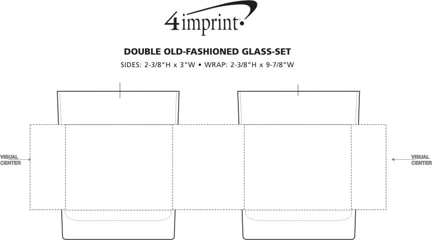 Imprint Area of Double Old-Fashioned Glass Set