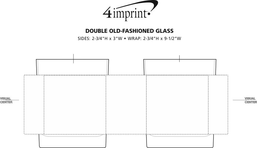 Imprint Area of Double Old-Fashioned Glass