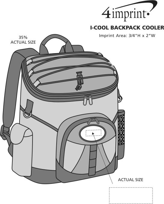 Imprint Area of I-Cool Backpack Cooler