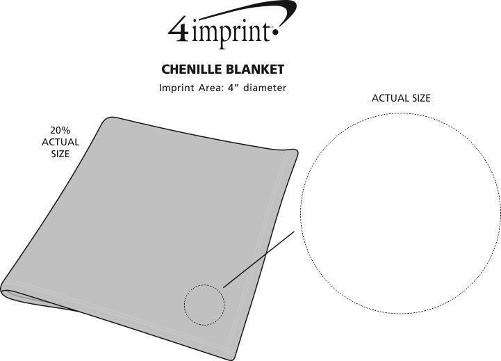 Imprint Area of Heavenly Soft Chenille Blanket
