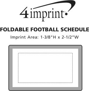 Imprint Area of Foldable Football Schedule