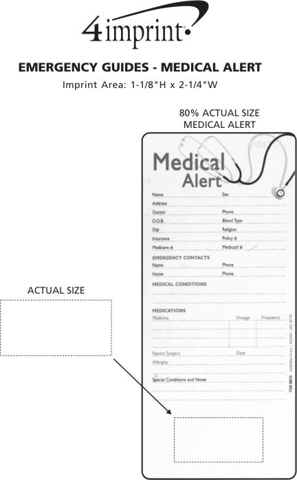 Imprint Area of Emergency Guide - Medical Alert