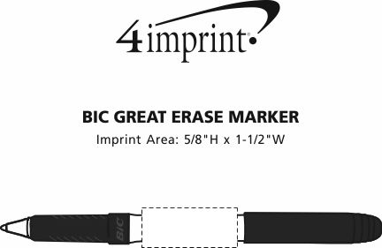Imprint Area of Bic Great Erase Marker