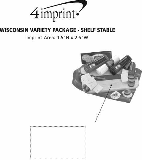Imprint Area of Wisconsin Variety Package - Shelf-Stable