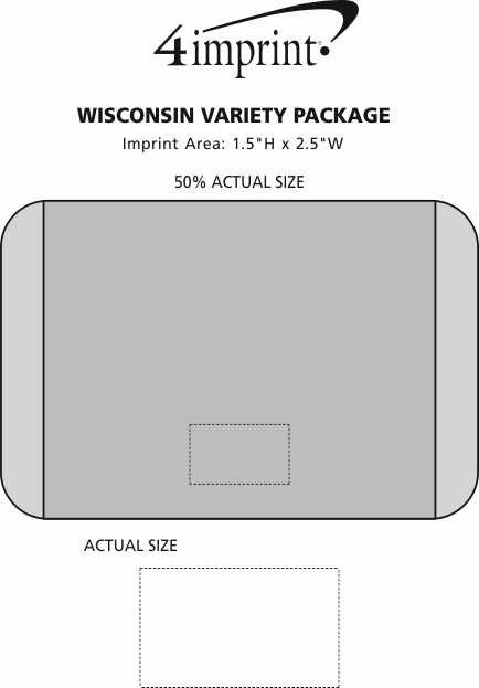 Imprint Area of Wisconsin Variety Package