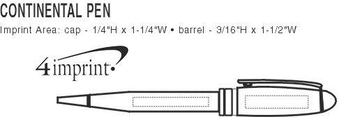 Imprint Area of Continental Twist Pen