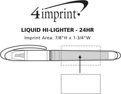 Imprint Area of Liquid Hi-Liter - 24 hr