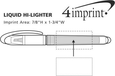 Imprint Area of Liquid Hi-Liter