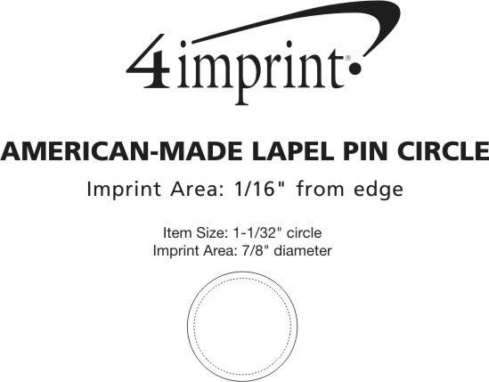 Imprint Area of Lapel Pin - Circle