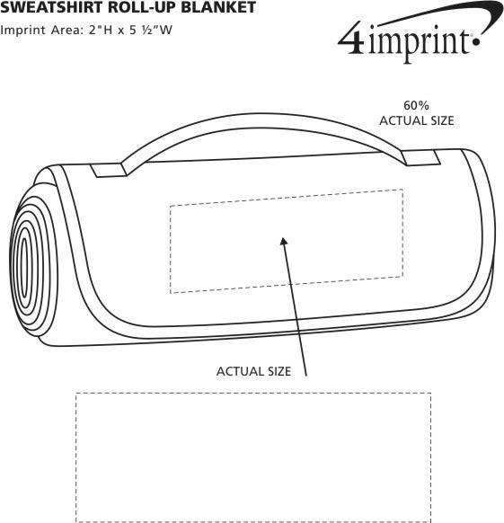 Imprint Area of Sweatshirt Roll-Up Blanket