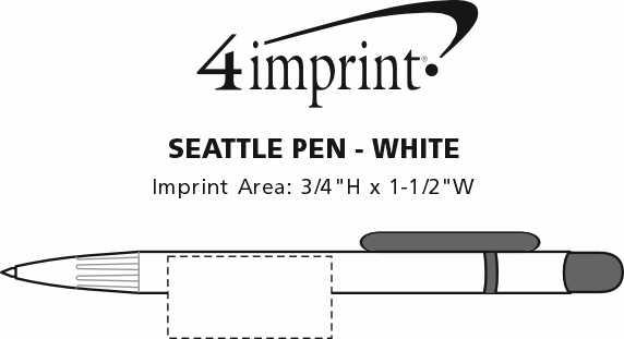 Imprint Area of Seattle Pen - White