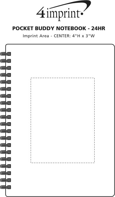 Imprint Area of Pocket Buddy Notebook - 24 hr