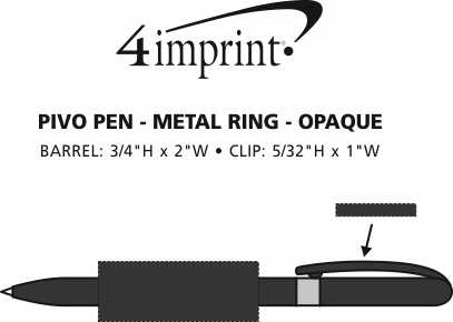 Imprint Area of Bic Pivo Pen - Metal Ring - Opaque