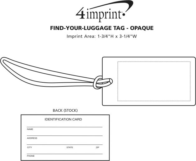 Imprint Area of Find-Your-Luggage Tag - Opaque