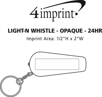 Imprint Area of Light 'n Whistle - Opaque - 24 hr