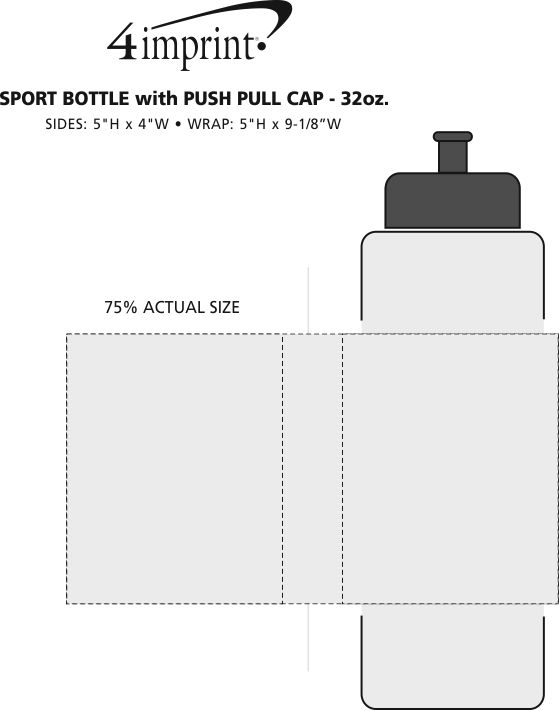 Imprint Area of Sport Bottle - 32 oz.
