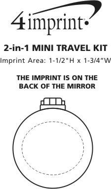 Imprint Area of 2-in-1 Mini Travel Kit