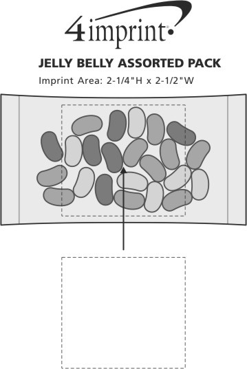 Imprint Area of Jelly Belly Assorted Pack