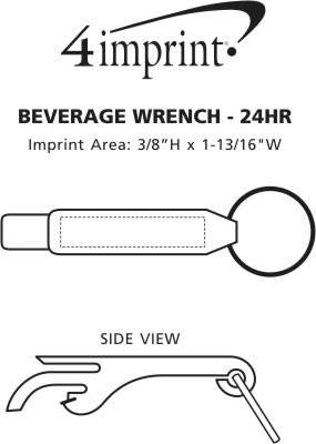 Imprint Area of Beverage Wrench - 24 hr